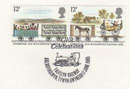 1985 GB Stamps COVER EVENT Pmk TALYLLYN GWR  RAILWAY Anniv Steam Train - Trains
