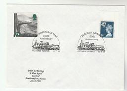 1995 GB Stamps COVER EVENT Pmk GUTHRIE ABERDEEN RAILWAY Anniv Steam Train - Trains
