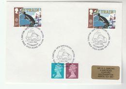 1988 GB Stamps EVENT COVER Pmk  MALLARD STEAM TRAIN RECORD PETERBOROUGH  Railway - Trains