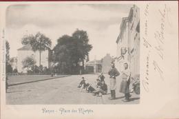 Ronse Renaix Place Des Martyrs (in Zeer Goede Staat) 1901 Geanimeerd - Renaix - Ronse