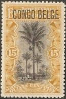 Belgische Congo Belge - 1909 Type Mols 15 C Local Overpr MH