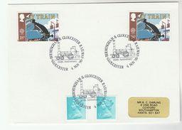 1990 GLOUCESTER BIRMINGHAM  RAILWAY Anniv EVENT COVER Steam Train Gb Stamps - Trains