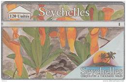 SEYCHELLES ISL. - Carmivorous Plant 1, CN : 422A, Tirage 20000, Used - Seychellen