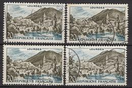 FRANCE 1958 - Y.T. N° 1150 X 4 - OBLITERES / - Francia
