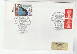 1993 GB SWINDON  RAILWAY WORKS Anniv EVENT Cover Steam Train Stamps GB - Trains