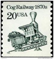 1995 USA Transportation Coil Stamp Cog Railway Sc#2463 History Train Post Coal - Minerals