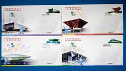 China 2010-3 Shanghai Expo Stadium Stamps FDC - 2010-...