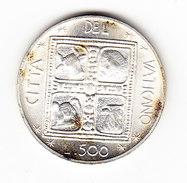VATICAN    KM  132, 500L, SILVER, PAUL VI,1977.  (I  2048) - Vatican