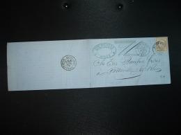 LETTRE (PLI) TP CERES 15c OBL. 25 AVRIL 76 ROUEN GARE (76 SEINE-MARITIME) + 26 AVRIL 76 ROUEN-ST-SEVER + ELIE DOUILLET - 1849-1876: Klassieke Periode