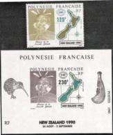 Fr Polynesia,  Scott 2017 # 544-545,  Issued 1990,  Single + S/S,  MNH,  Cat $ 9.00,   Philatelic - Polynésie Française