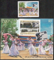 Fr Polynesia,  Scott 2017 # 683-684,  Issued 1996,  Single + S/S,  MNH,  Cat $ 6.00,   Philatelic - Ungebraucht