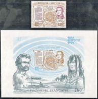 Fr Polynesia,  Scott 2017 # C219-C220,  Issued 1987,  Single + S/S,  MNH,  Cat $ 8.00,  Philatelic - Unused Stamps