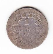 VATICAN    KM  1378, 1 L, SILVER, 1866  PAPAL  STATES . (I  2055) - Vatican
