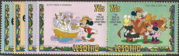 Lesotho,  Scott 2015 # 381-382,  Issued 1982,  Set Of 8,  MNH,  Cat $ 4.00,  Disney - Lesotho (1966-...)