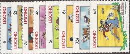 Lesotho,  Scott 2015 # 412-419,  Issued 1983,  Set Of 8,  MNH,  Cat $ 6.25,  Disney - Lesotho (1966-...)