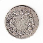 ITALIE, PAPAL STATES VATICAN, PIE IX KM 1377.2 1L 1866 SILVER. (PD30) - Vatican