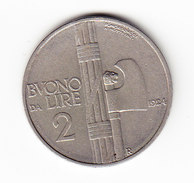 ITALIE KM 63, 1924R, 2L. (3P46) - 1861-1946 : Royaume