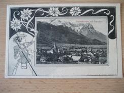 Deutschland- AK Garmisch Partenkirchen Mit Zugspitze, Verlag: A. Adam Garmisch - Garmisch-Partenkirchen