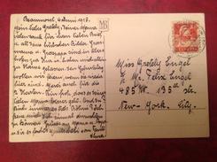 Suisse Pour New York Censure Saisi Par L'autorité Militaire 1917 Cpa Avec Chien - Postmark Collection