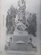 Gravure 1858  Cimetiere Du Pere-Lachaise   Monument Funebre  De L Amiral Bruat - Vieux Papiers