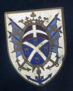 Ancien Insigne émaillé Croiseur Suffren --- Annonier Toulon  Ins3 - Marine