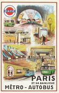 RATP  Paris Et Sa Banlieue Métro-Autobus  Illustrateur: Georges Redon - - Europe