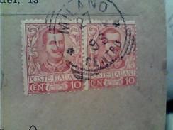 10 CENTESIMI Coppia 10 Floreale Su Busta LUIGI MAJOCCHI MILANO X GIUSSANO  1902 GB13259 - 1900-44 Vittorio Emanuele III