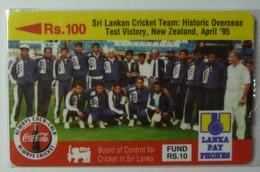 SRI LANKA - GPT - 14SRLA - 100 Units - Cricket Team Historic Test Victory 1995 - Mint Blister - Sri Lanka (Ceylon)