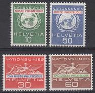 ZWITSERLAND - Michel - 1962 -  Nr 34/37 (UNO/ONU) - MNH** - Dienstpost