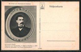 CPA Illustrateur Porträt Historiker Heinrich Von Treitschke - Otras Celebridades