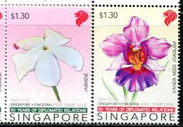 XF1134 Singapore 2016 National Flower 2v MNH - Singapore (1959-...)