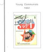 Cuba 1992 Giovani Comunisti N.1 Valori Scott.3405+ See Scan - Cuba