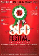 [MD0733] CPM - SALUDECIO - 800 FESTIVAL XXIX EDIZIONE - ASSESSORATO ALLA CULTURA - CON ANNULLO 6.8.2011 - NV - Rimini
