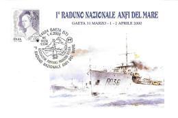 [MD0737] CPM - GAETA (LATINA) - 1° RADUNO NAZIONALE ANFI DEL MARE - CON ANNULLO 1.4.2000 - NV - Latina