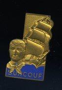 Ancien Insigne émaillé Navire Surcouf -- Drago   Ins3 - Marine