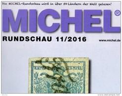 Rundschau MICHEL Briefmarken 11/2016 Neu 6€ New Stamp Of The World Catalogue/magacine Of Germany ISBN 9783954026005 - Art