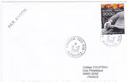 Polynésie Française, Lettre De 2000,HANAVAVE-FATU-HIVA ,MARQUISES, N°610 ( Poly17/026) - Covers & Documents