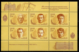 Russia 2002 The 80th Anniversary Of Founding Of Security Service. Spymasters.M/S.MNH - 1992-.... Federation