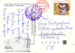 "L3707 - Slovakia (1996) 058 22 Poprad 2 (postcard) Stamp Wolfgang Kempelen (1734-1804) Chess-playing Automaton ""The Turk - Scacchi"