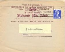 ALGERIE ENVELOPPE ILLUSTRÉE Avec TONNEAUX & ALAMBIC Ets REBAUD FILS AIMÉ ALGER - OM SECAP 1958 ALGÉRIE FRANÇAISE - Lettres & Documents