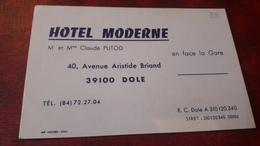 Old Hotel Visit Card - Hotel Moderne, Dole - Autres