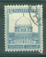 Palestine: 1932/44   Buildings    SG108a    15m   Grey-blue   Used - Palestine