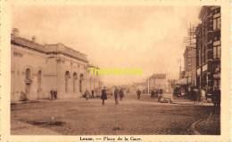 CPA LEUZE PLACE DE LA GARE - Leuze-en-Hainaut
