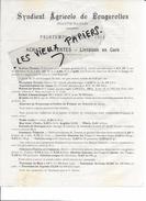 70 - Haute-saône - FOUGEROLLES - Facture SYNDICAT AGRICOLE DE FOUGEROLLES - 1914 - REF 61A - France