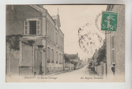 CPA POLISY (Aube) - La Rue Du Carouge - France