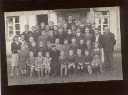 50 école N-D Du Voeu Cherbourg évacuée à L'ermitage Près Avranches 12/11/1943 Le Val St Père Photo S. Trond..carte Photo - Avranches