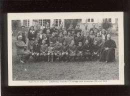 50 école N-D Du Voeu Cherbourg évacuée à L'ermitage Près Avranches 29/04/1943 Carte Photo éditée  Le Val St Père Groupe - Avranches