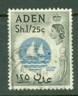 Aden: 1953/63   QE II - Pictorial    SG64   1s 25   Blue & Black     Used - Aden (1854-1963)