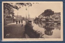 = Quimper Locmaria, Les Bords De L'Odet (Finistère) Timbre N°281 Oblitéré 18.4.39 - Quimper