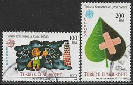 La Turquie Oblitérérs, No: 2494 à 2495, Coté 3 Euros, Y & T, USED, EUROPA - 1921-... République